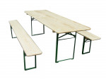 Set brasserie COLMAR comprenant 1 table 220 x 70 cm + 2 bancs 8 personne