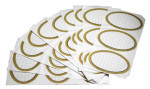 ETIQUETTES ADHESIVES OVALES X 30